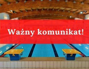 Komunikat w sprawie funkcjonowania pływalni
