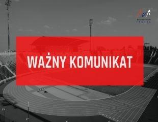 Komunikat Bydgoskiego Centrum Sportu